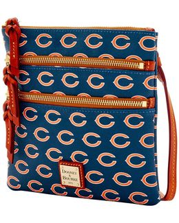 Bears Triple Zip Crossbody Bag