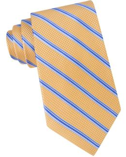 Houndstooth Striped Silk Tie