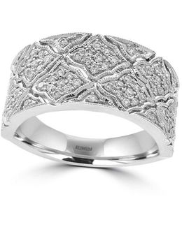 Pave Classica Diamonds And 14k White Gold Ring