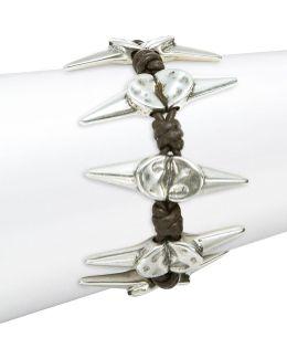 Braided Scattered Spike Bracelet