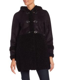 Sherpa-trimmed Toggle Coat