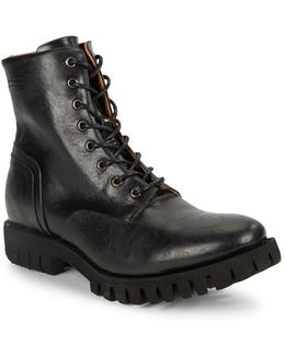 Depp Lace-up Leather Boots
