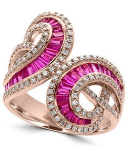 Amore Diamonds, Ruby And 14k Rose Gold Ring