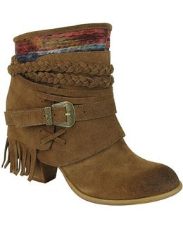 Saddle Baggin Suede Booties
