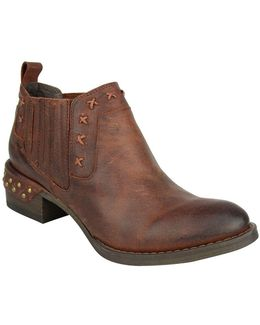 Miss M Nailhead Leather Booties
