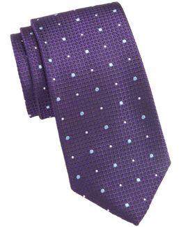 Textured Dot Silk Tie