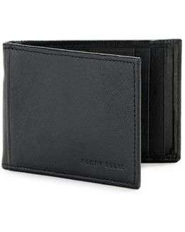 Rifd-blocking Leather Portfolio Wallet