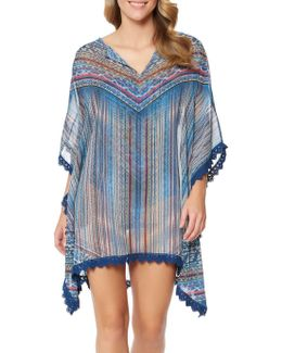 Dusty Road Kimono-style Cover-up