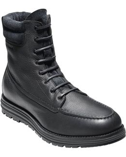 Waterproof Two-tone Leather Boots