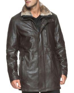 Middlebury Fur-trimmed Leather Jacket