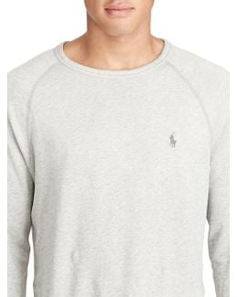 Heathered Long-sleeve Pullover