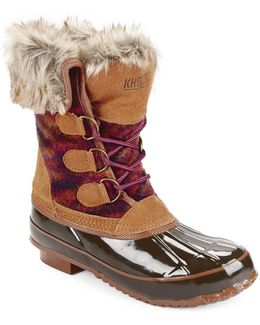Julliard Faux Fur Accented Duck Boots