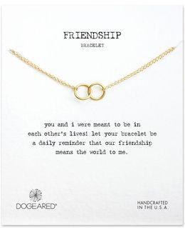 14k Goldplated Double Ring Bracelet
