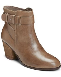 Inevitable Leather Zipped Ankle Boots
