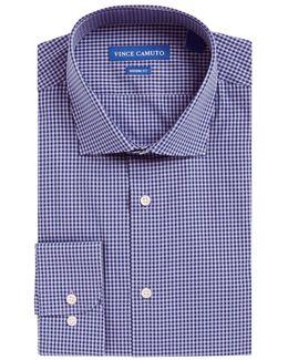 Gingham Plaid Dress Shirt