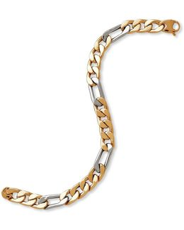 14k Yellow And White Gold Chain-link Bracelet