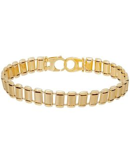 14k Yellow Gold Watch Band Link Bracelet