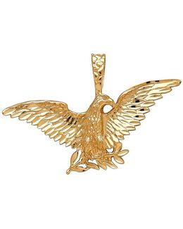 14k Yellow Gold Eagle Pendant