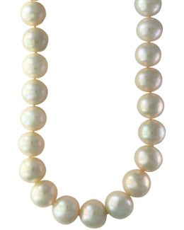 13mm Pearl & Sterling Silver Necklace