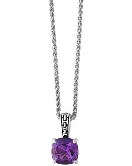 Viola Sterling Silver Amethyst Pendant Necklace