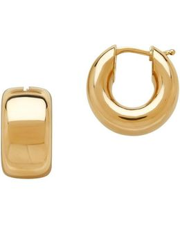 14k Italian Gold Hoop Earrings- 0.68in