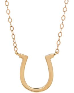 14k Yellow-gold Horseshoe Pendant Necklace
