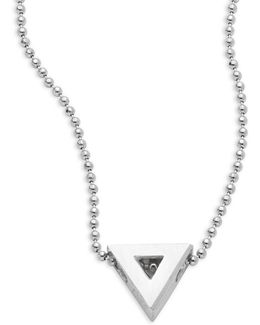 Elements Triangle Sterling Silver Pendant Necklace
