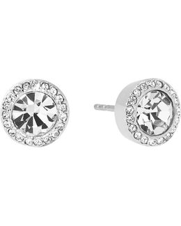 Brilliance Crystal Stud Earrings/silvertone