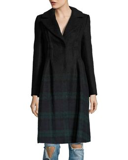 Wool-blend Plaid Overcoat