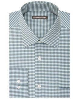 Gingham Print Dress Shirt