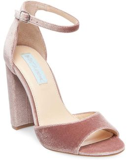Carly Velvet Sandals
