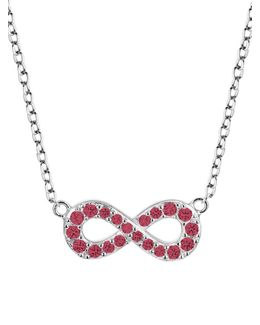 Sterling Silver Infinity Pendant Necklace