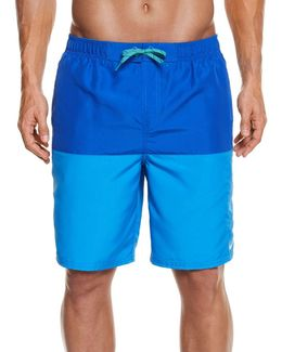 Men's Colorblocked Water-shedding Swim Suit