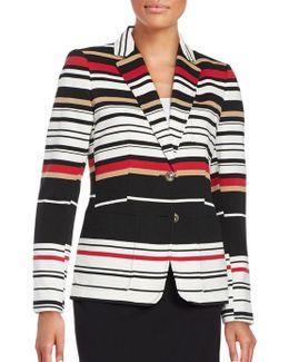 Striped Two-button Blazer
