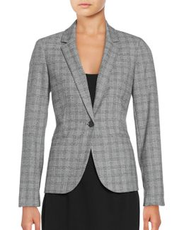 One-button Checked Jacket