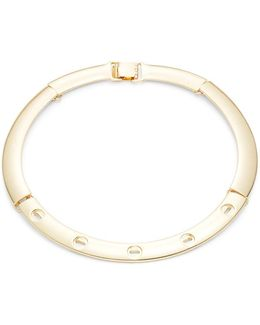 Goldtone Screw-accented Choker Necklace