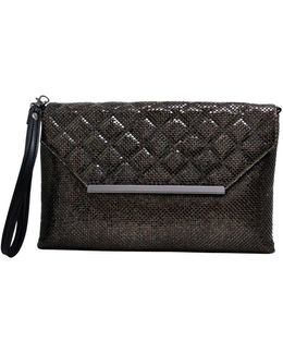 Quilted Flap Envelope Wristlet