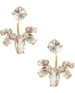 Marquise And Crystal Floater Earrings