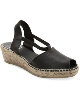 Dainty Slingback Wedge Sandals