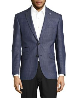Patterned Suit Jacket