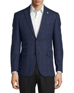 Patterned Wool Suit Jacket
