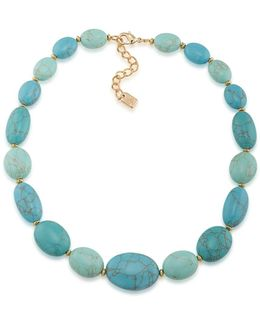 Paradise Found Turquoise Stone Collar Necklace