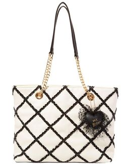 Cross Your Heart Ruffled Tote