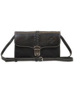 Bianco Braided Leather Crossbody Bag