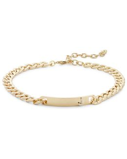 J Initial Id Choker Necklace