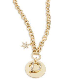 D Initial Pendant Necklace