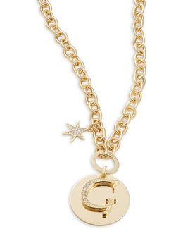 G Initial Pendant Necklace