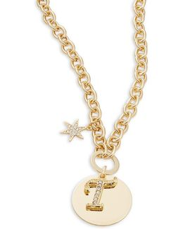 T Initial Pendant Necklace
