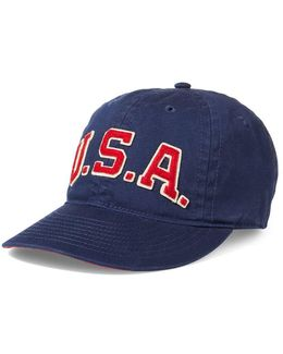 Usa Embroidered Patch Cap