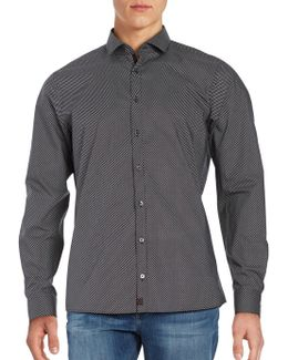 Subtle Striped Cotton Sportshirt